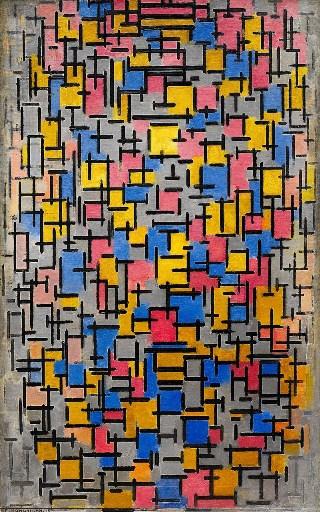 Mondrian-composizione