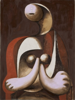 Picasso-donna-poltrona-rossa
