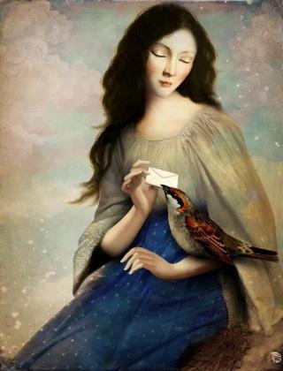 Schloe-lettera-uccello