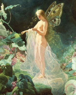 Titania Painting by John Simmons; Titania Art Print for sale