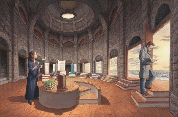 surreal-biblioteca