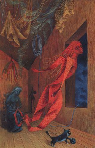 leonor-fini-tessitrice-rossa