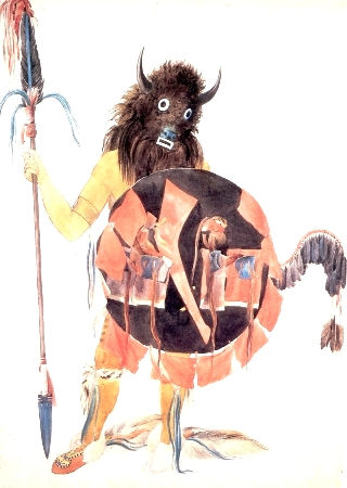 Mandan-bisonte-maschera