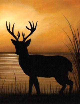 cervo-tramonto