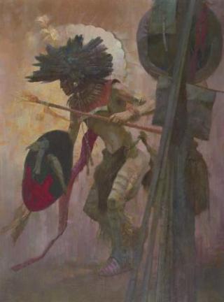 Hidatsa-danzatore-guerriero