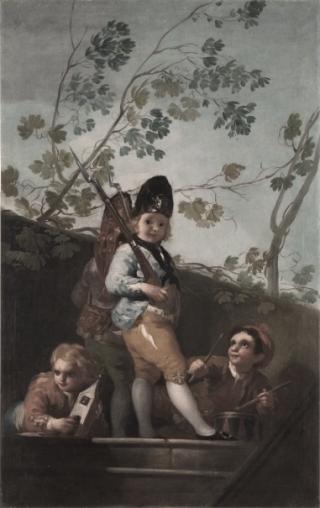 Goya-bambini-giocano-soldati
