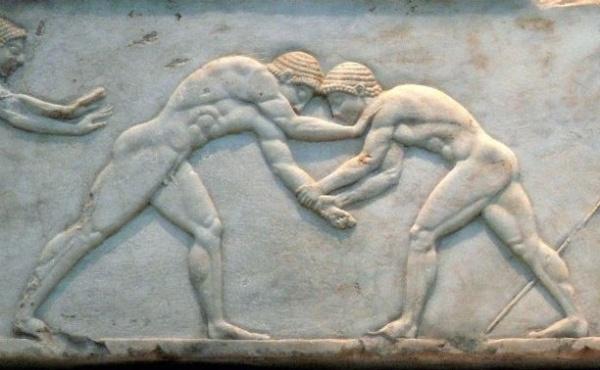 lottatori-bassorilievo