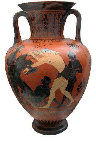 lottatori-greci-anfora