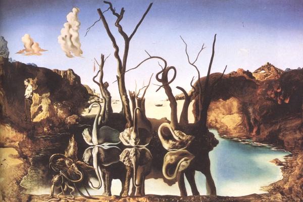 Dalì-cigni-riflettenti-elefanti