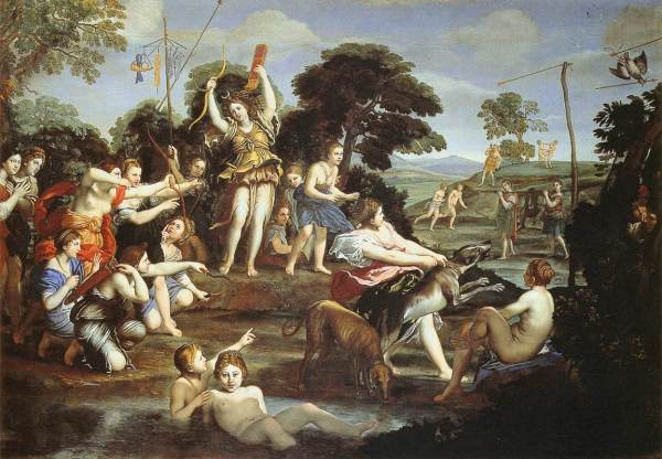 Domenichino-Diana-ninfe
