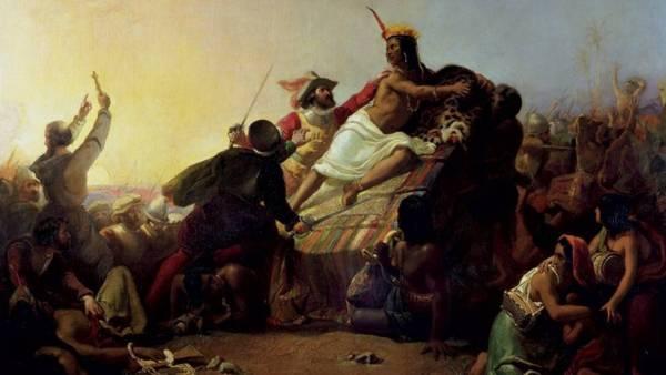 Millais-Pizzarro-cattura-Atahualpa