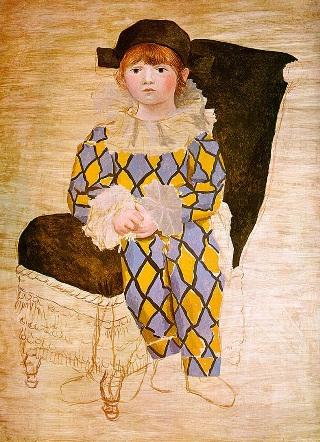 Picasso-Paul-vestito-Arlecchino