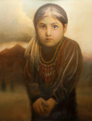bambina-nativa-americana-paint