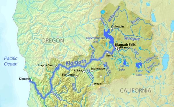 Klamath-lago-mappa