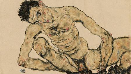 Egon Schiele-autoritratto-nudo