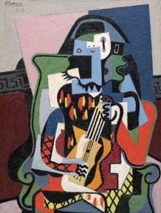 Picasso-Arlecchino-suonatore