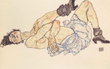 Egon Schiele-donna-distesa