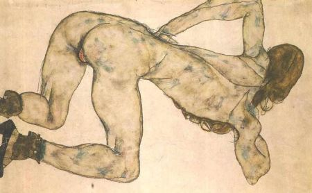 Egon Schiele-donna-nuda-senza-volto