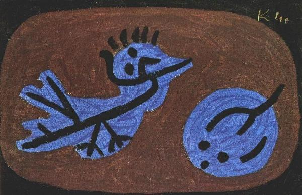 Klee-uccello-blu
