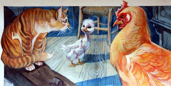 brutto-anatroccolo-gatto-gallina