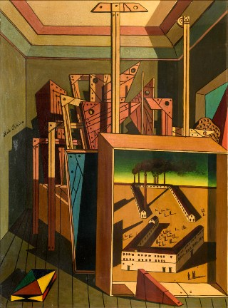 De-Chirico-Interno-metafisico-con-officina