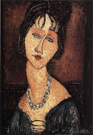 Modigliani-Jeanne-Hebuterne-con-collana